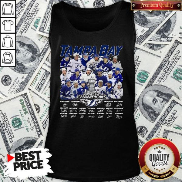 Love Tampa Bay Stanley Cup Champions Signature Tank Top - Design By Waretees.com