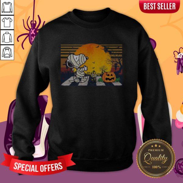 Mummy Snoopy Woodstock Pumpkin Sweatshirt