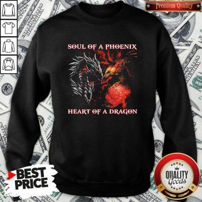 Nice Dragon Soul Of A Phoenix Heart Of A Dragon Sweatshirt - Design By Waretees.com