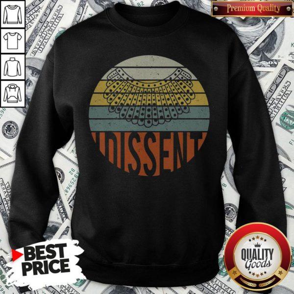 Nice I Dissent Quote Vintage RBG Sweatshirt - Design By Waretees.com