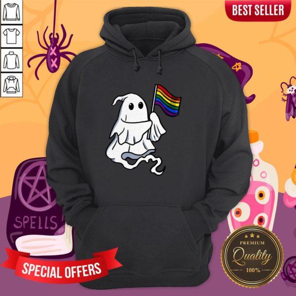 Nice LGBT Ghost For Gay Halloween Hoodie