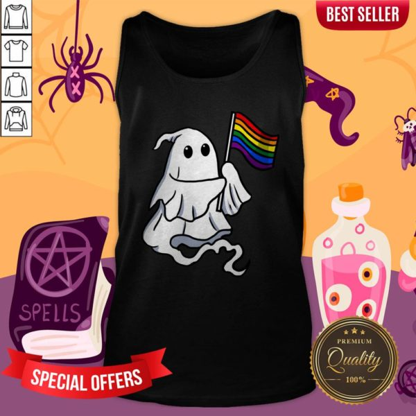 Nice LGBT Ghost For Gay Halloween Tank Top