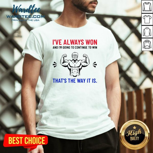 Nice Trump Quote Motivational Text Words And V-neck Design By Waretees.com
