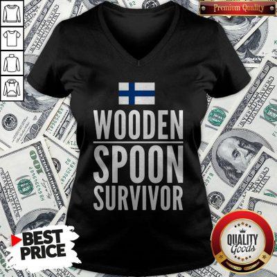 Nice Wooden Spoon Survivor V-neck - Design By Waretees.com
