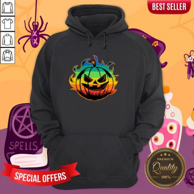 Official LGBT Pumpkin Fire Halloween Hoodie