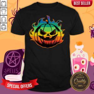 Official LGBT Pumpkin Fire Halloween Shirt