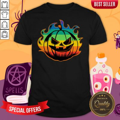 Official LGBT Pumpkin Fire Halloween Shirt