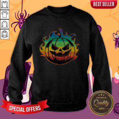 Official LGBT Pumpkin Fire Halloween Sweatshirt