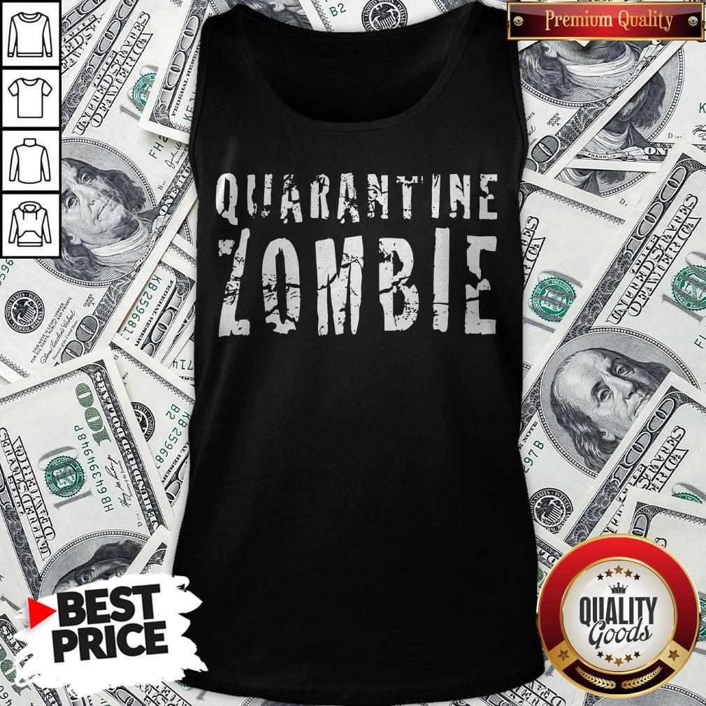 Official Quarantine Zombie Tank Top - Design By Waretees.com