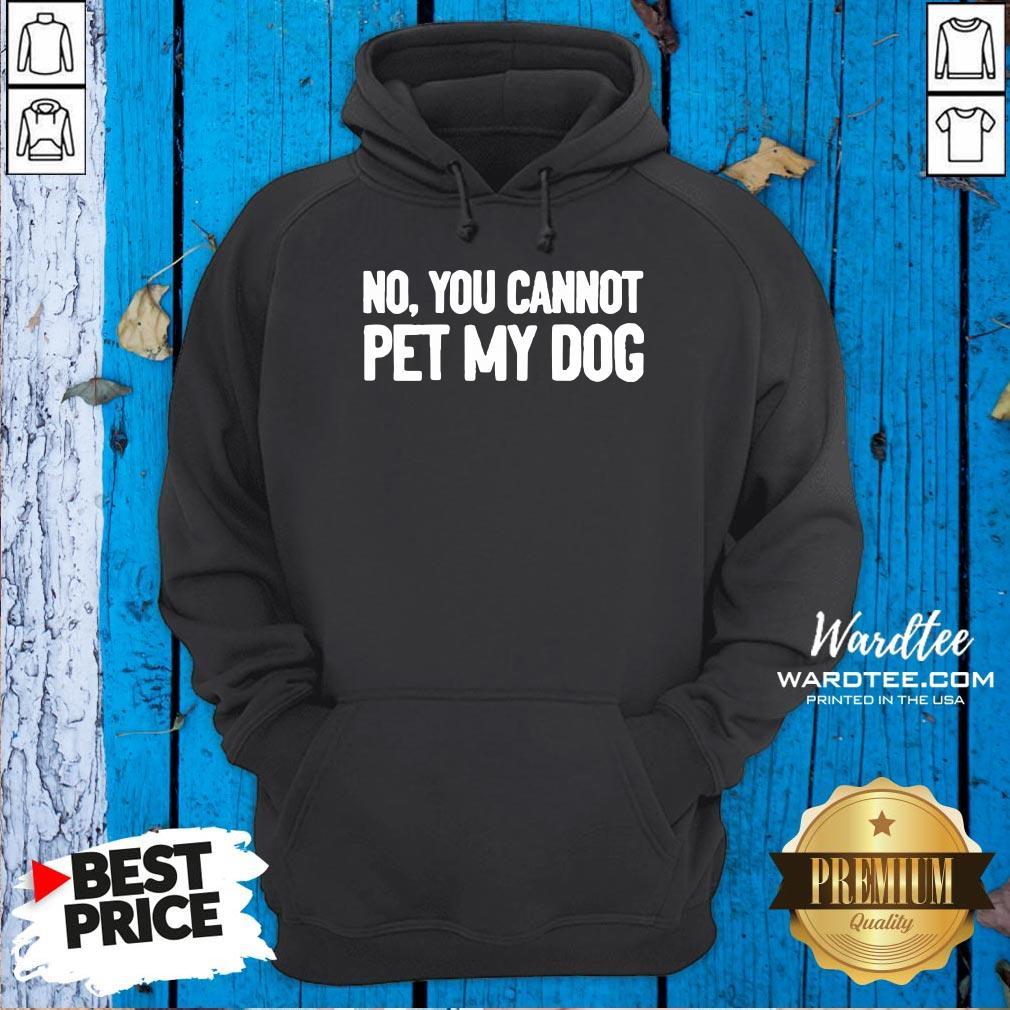 Original No You Cannot Pet My Dog Hoodie Design By Waretees.com