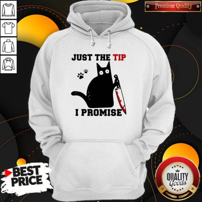 Perfect Black Cat Just The Tip I Promise Hoodie - Design By Waretees.com