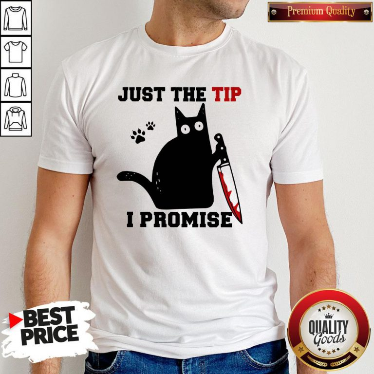Perfect Black Cat Just The Tip I Promise Shirt - Design By Waretees.com