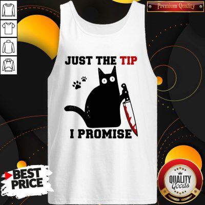 Perfect Black Cat Just The Tip I Promise Tank Top - Design By Waretees.com