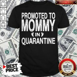 Promoted To Mommy In Quarantine Pregnancy Announcemet Shirt - Design By Waretees.com
