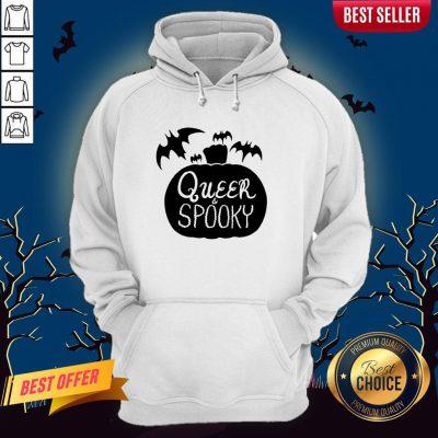 Queer And Spooky Pumpkin Bats Halloween Hoodie