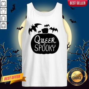 Queer And Spooky Pumpkin Bats Halloween Tank Top