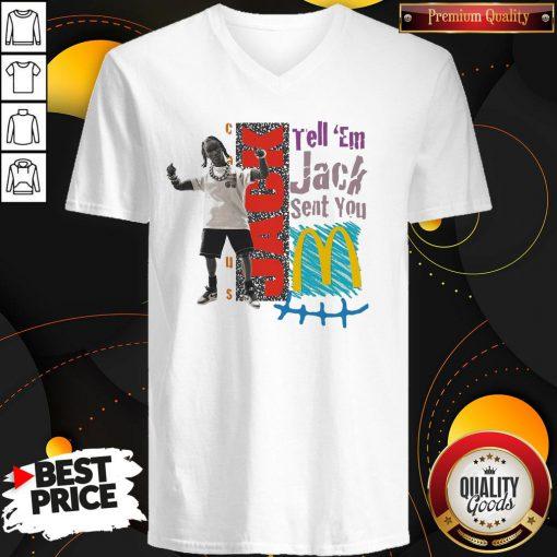 Tell Em Jack Sent You Blue V-neck - Design By Waretees.com