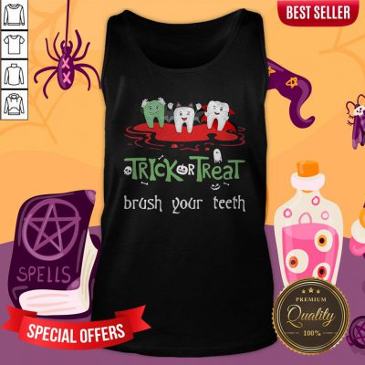 Trick Or Treat Brush Your Teeth Halloween Tank Top