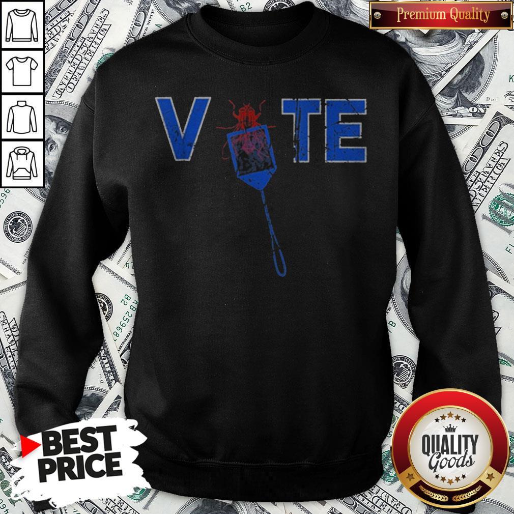 Vote Truth Over Flies Fly Swatter Biden 2020 Sweatshirt - Design By Waretees.com