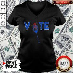 Vote Truth Over Flies Fly Swatter Biden 2020 V-neck - Design By Waretees.com