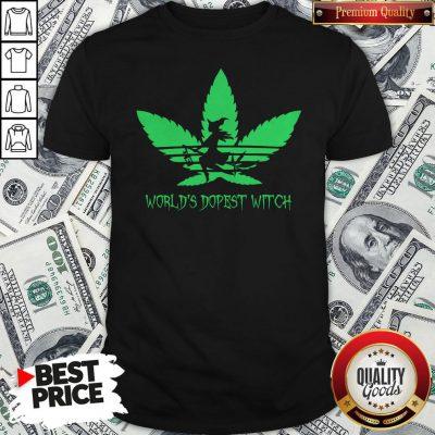Weed World's Dopest Witch Adidas Halloween Shirt