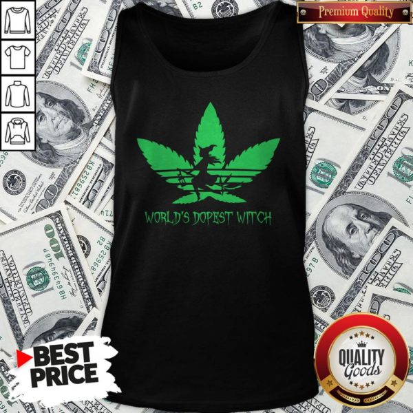 Weed World's Dopest Witch Adidas Halloween Tank Top