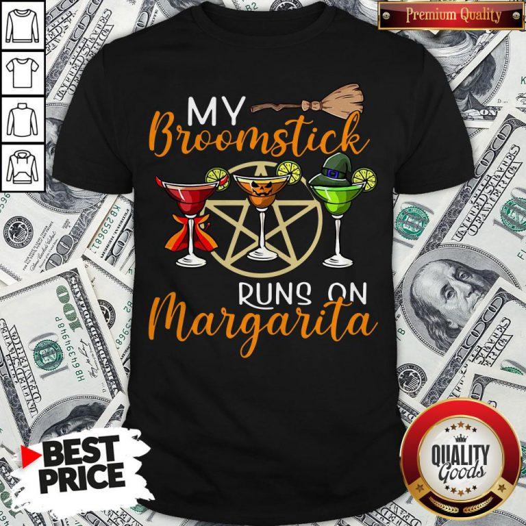 Wines My Broomstick Runs On Margarita Supernatural Halloween Shirt - Design By Waretees.com