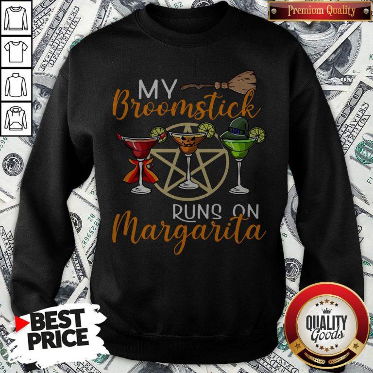 Wines My Broomstick Runs On Margarita Supernatural Halloween Sweatshirt - Design By Waretees.com