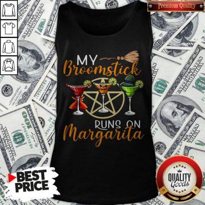 Wines My Broomstick Runs On Margarita Supernatural Halloween Tank Top - Design By Waretees.com