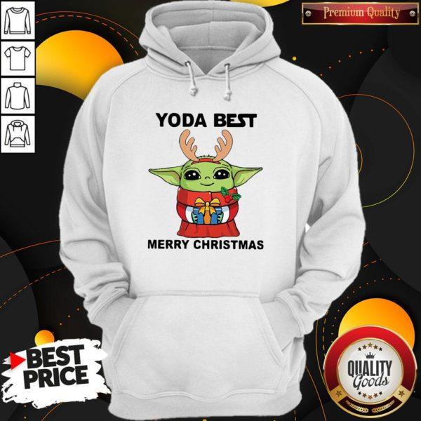 Yoda Reindeer Best Merry Christmas Hoodie