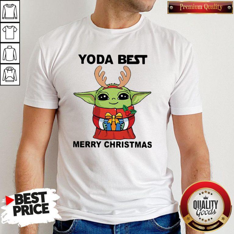 Yoda Reindeer Best Merry Christmas Shirt