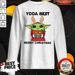 Yoda Reindeer Best Merry Christmas Sweatshirt