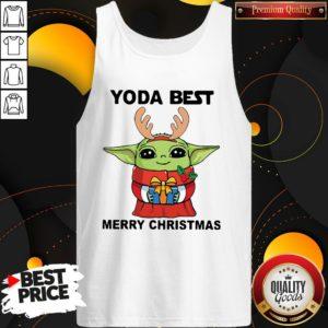Yoda Reindeer Best Merry Christmas Tank Top