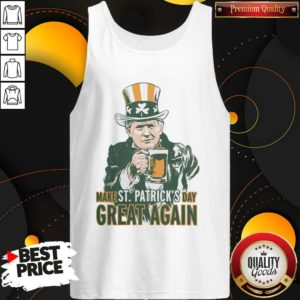 Awesome Donald Trump Make St Patrick's Day Great Again Tank Top