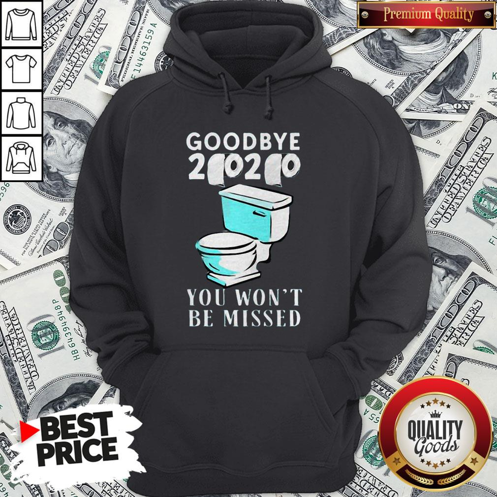 Awesome Goodbye 2020 You Won't Be Missed Toilet Hoodie