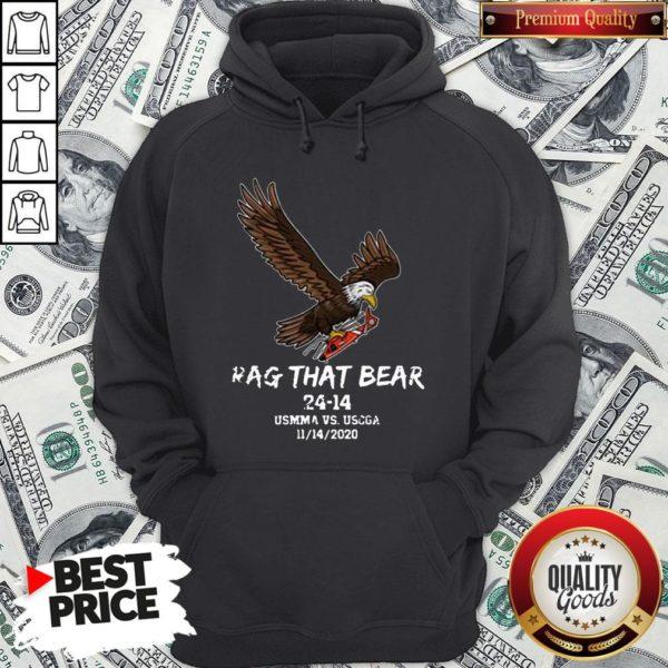 Awesome Rag That Bear 24 14 Usmma Vs. Uscga Hoodie