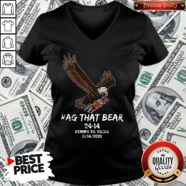 Awesome Rag That Bear 24 14 Usmma Vs. Uscga V-neck