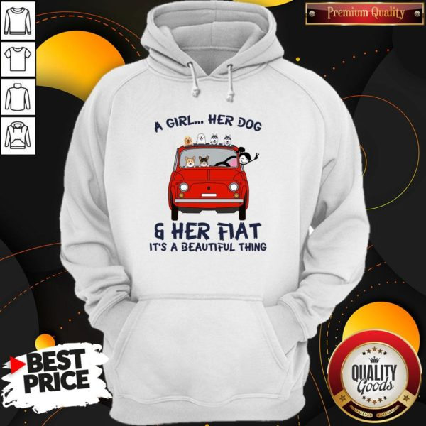 Cute A Girl Her Dog And Her Flat It's A Beautiful Thing Hoodie