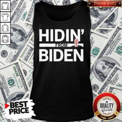 Cute Hidin From Biden 2020 Election Funny Campaign Toddler Kids Girl Boy Tank Top