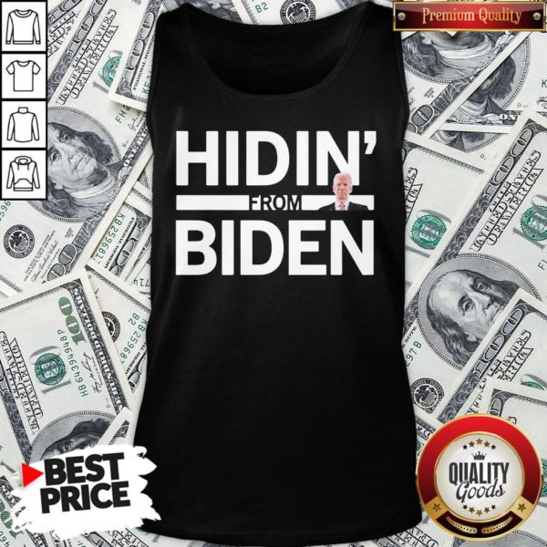 Cute Hidin From Biden 2020 Election Funny Campaign Toddler Kids Girl Boy Tank Top