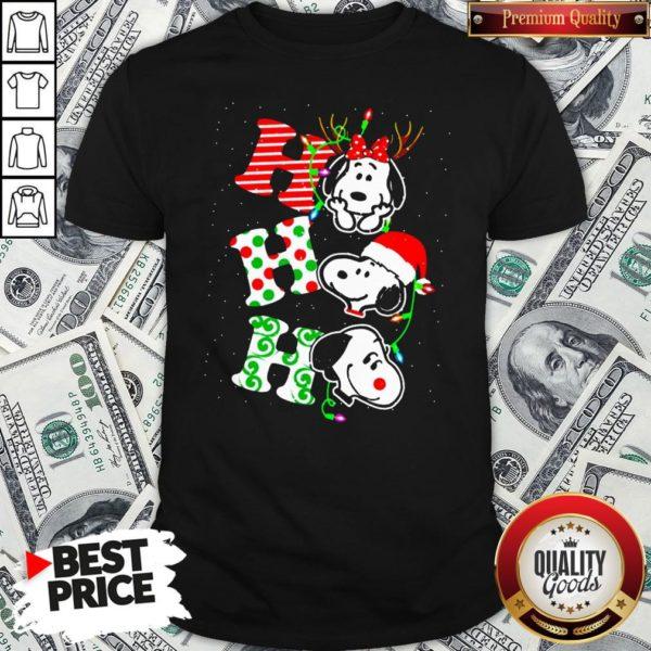 Cute Snoopy's Ho Ho Ho Merry Christmas 2020 Shirt