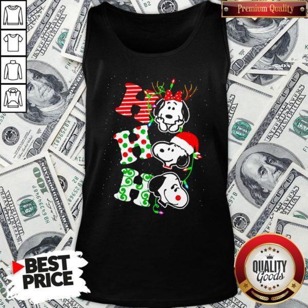 Cute Snoopy's Ho Ho Ho Merry Christmas 2020 Tank Top