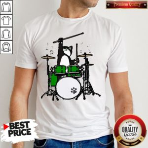 Funny Cat Playing Drums Shirt