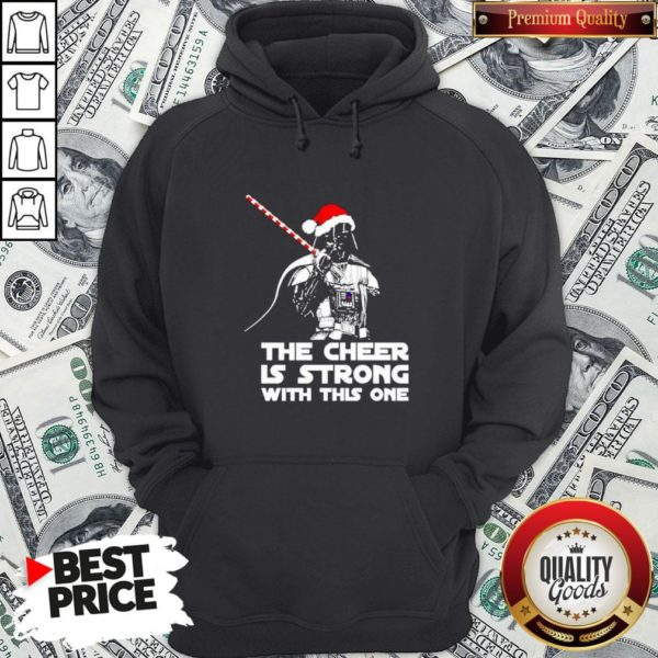 Funny Darth Vader Santa Hat The Cheer Is Strong With This One Christmas Hoodie