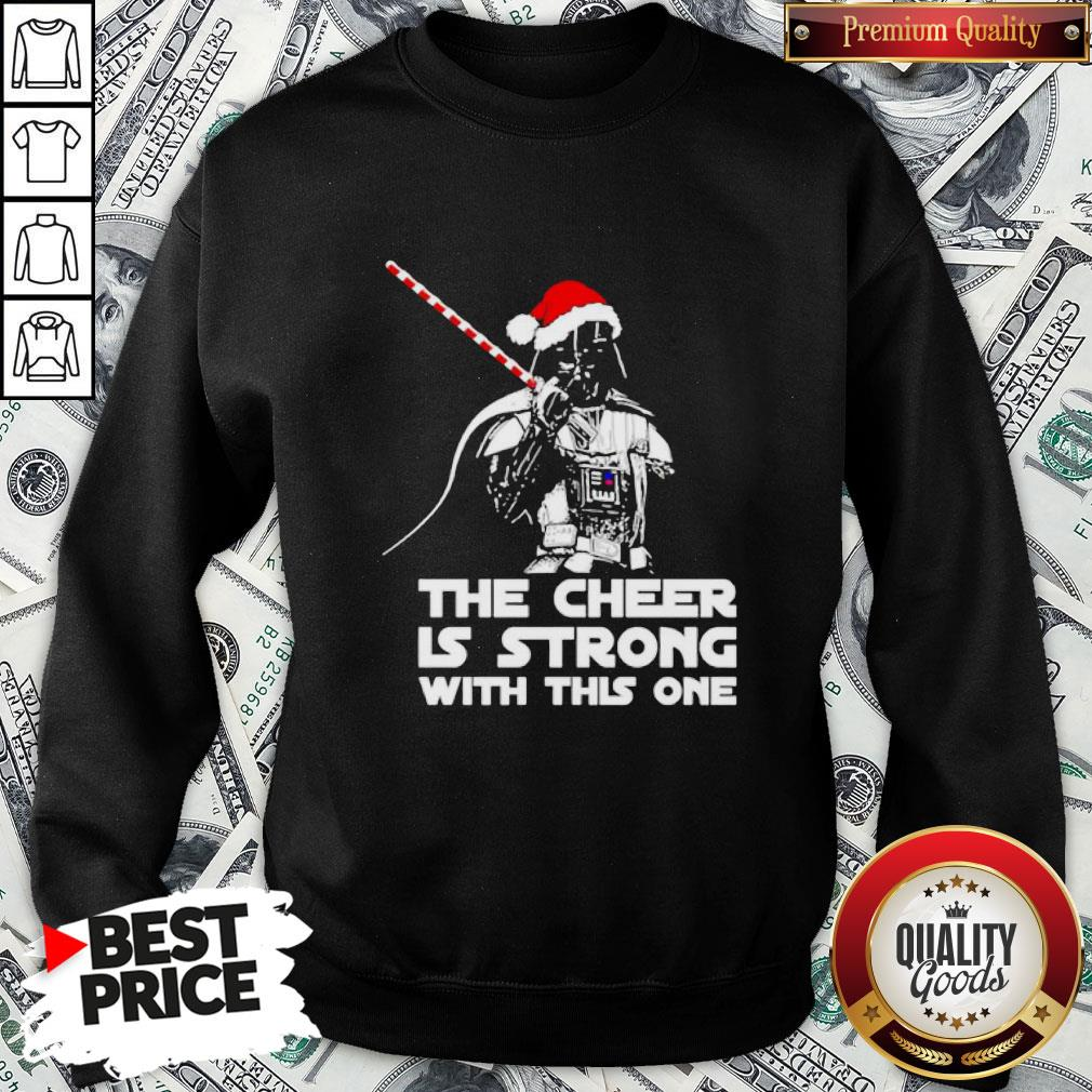 Funny Darth Vader Santa Hat The Cheer Is Strong With This One Christmas SweatShirt