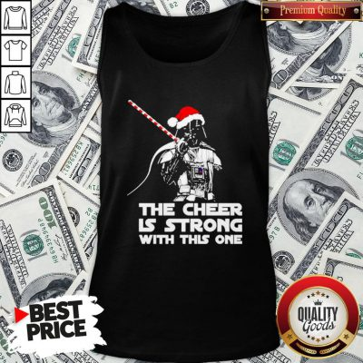 Funny Darth Vader Santa Hat The Cheer Is Strong With This One Christmas Tank Top