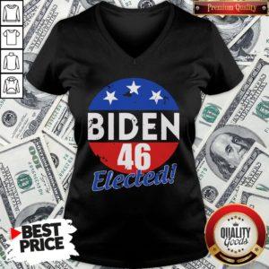 Funny Elected Celebrate Joe Biden 46th President 2020 V-neck