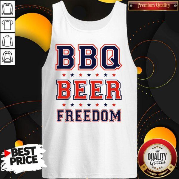 Good BBQ Beer Freedom Tank Top