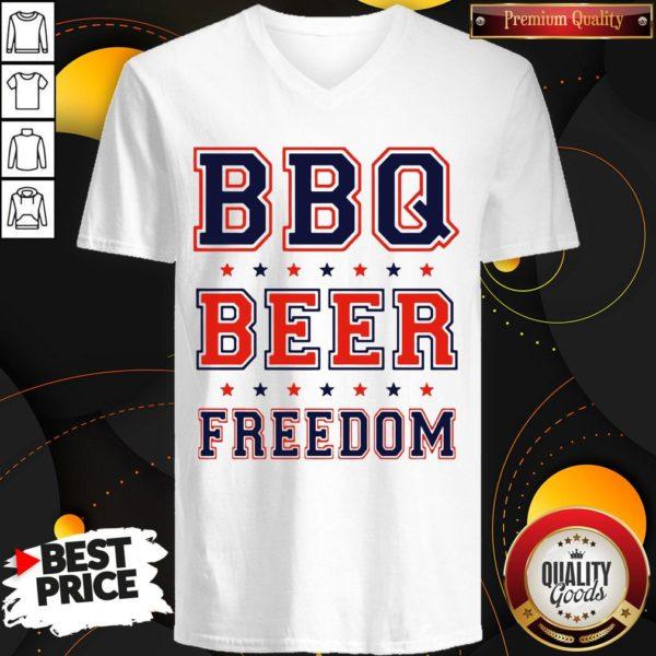 Good BBQ Beer Freedom V-neck