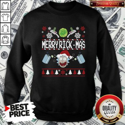 Good Rick And Morty Merry Swiftmas Merry Rickmas Ugly Christmas SweatShirt